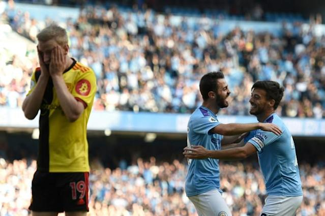 No mercy: Manchester City hammered Watford 8-0 last weekend (AFP Photo/Oli SCARFF )