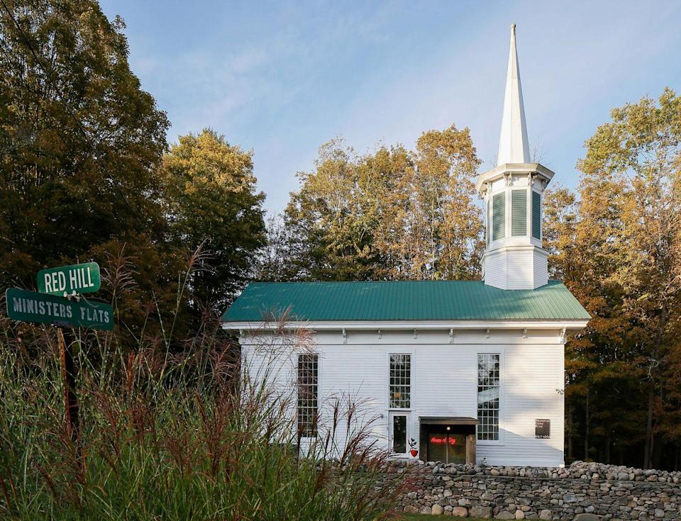 """<p>You can take your getaway from fine to divine in this early 19th-century church, designed and hosted by architect Matthew Bremer of New York firm <a href=""""http://www.aifny.com/teambios"""" rel=""""nofollow noopener"""" target=""""_blank"""" data-ylk=""""slk:Architecture in Formation"""" class=""""link rapid-noclick-resp"""">Architecture in Formation</a>. The sanctuary was converted (no pun intended) into a generous open-concept living, cooking, and dining area. Luxuriate in the clawfoot tub, catch a movie up in the mezzanine, and enjoy a good night's sleep in comfy beds—formerly church pews. All souls (and dogs!) are welcome.</p><p><a class=""""link rapid-noclick-resp"""" href=""""https://www.airbnb.com/rooms/37211117"""" rel=""""nofollow noopener"""" target=""""_blank"""" data-ylk=""""slk:Book Now"""">Book Now</a></p>"""