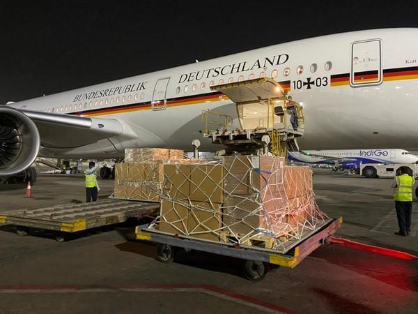 India receiving COVID-19 assistance from Germany (Twitter/Arindam Bagchi)