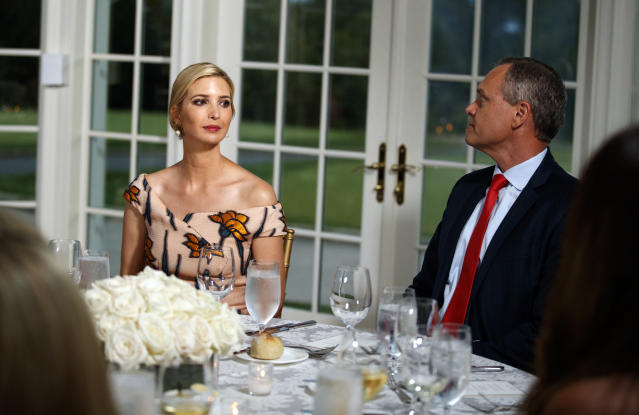 Ivanka Trump was seated next to Honeywell CEO Darius Adamczyk, (Photo: AP Photo/Carolyn Kaster)