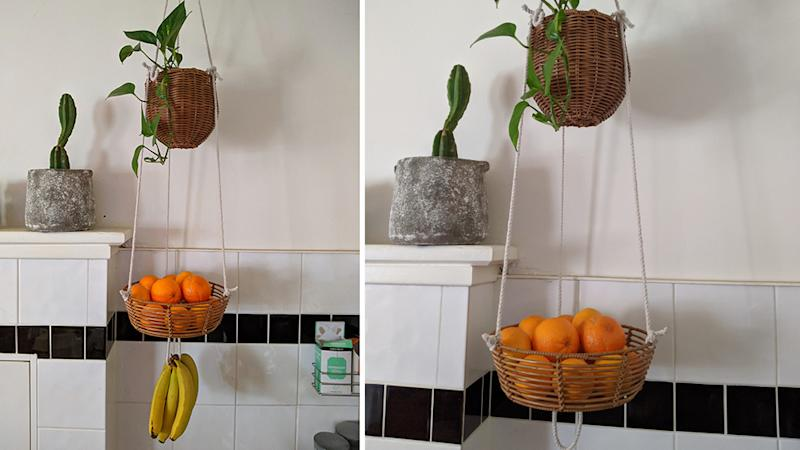 kmart hanging fruit bowl hack