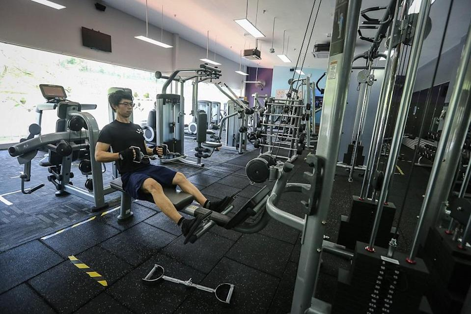 The gym is Simon Chieng's solace as he is not able to celebrate the Chinese New Year with his family in Sarawak. ― Picture by Yusof Mat Isa