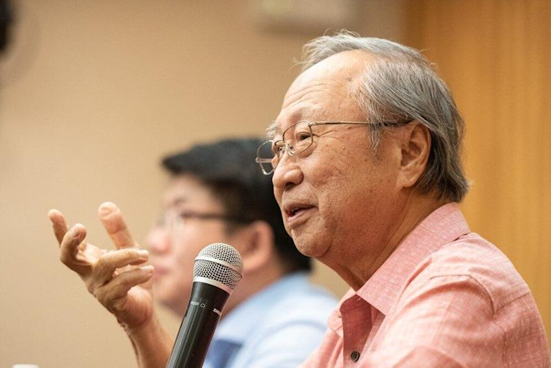 Former presidential candidate Dr Tan Cheng Bock at a Meet The People session on Saturday, 1 June 2019. PHOTO: Tan Cheng Bock Facebook page