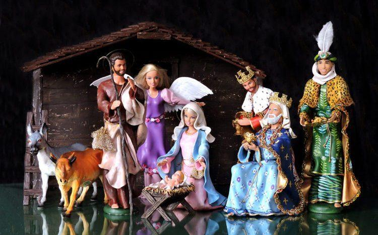 A Barbie-centric reimagining of the classic Christian Nativity Scene by artists Marianela Perelli and Emiliano Paolini