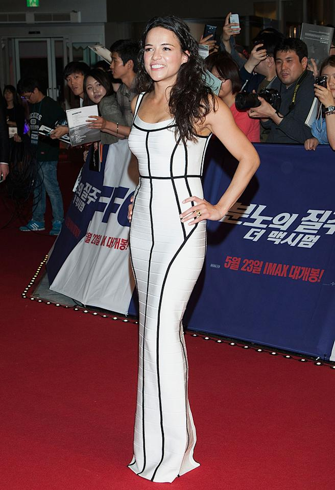 SEOUL, SOUTH KOREA - MAY 13:  Actress Michelle Rodriguez attends the 'Fast & Furious 6' South Korea Premiere on May 13, 2013 in Seoul, South Korea. Michelle Rodriguez is visiting South Korea to promote her recent film 'Fast & Furious 6' which will be released in South Korea on May 23.  (Photo by Han Myung-Gu/WireImage)