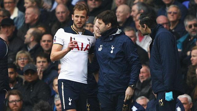 Mauricio Pochettino has revealed Harry Kane remains in an upbeat mood as he battles to recover from his latest ankle injury.