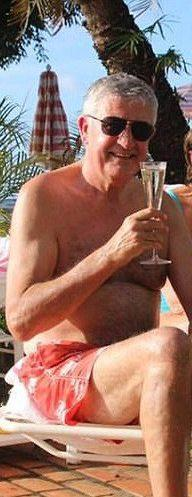 Bob Mackenzie on holiday in Barbados