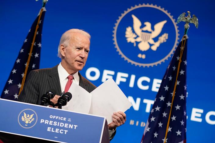 President-elect Joe Biden isn't waiting for President Donald Trump to concede the election before he assembles his Cabinet.