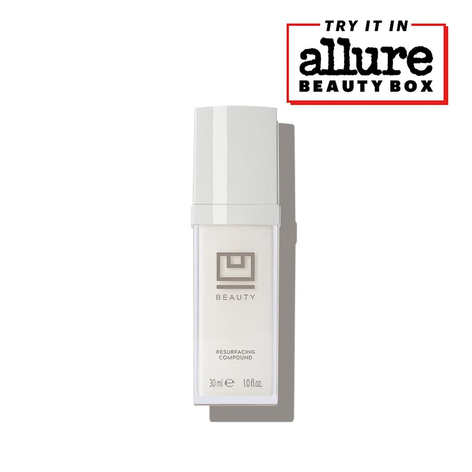 """<p>The U Beauty Resurfacing Compound has many of the brightening, smoothing ingredients to look for, including vitamin C, alpha hydroxy acids, and retinol, plus clarifying witch hazel and hydrating vitamin E. Apply a few pumps and top it with a basic moisturizer. Definitely a new serum for glass-skin goals.</p> <p>We love it so much we added it to our 2021 <a href=""""https://beautybox.allure.com/?source=EDT_ALB_EDIT_GALLERYINCL_0_AUGUST_UBEAUTY_ZZ"""" rel=""""nofollow noopener"""" target=""""_blank"""" data-ylk=""""slk:Allure Beauty Box lineup"""" class=""""link rapid-noclick-resp""""><em>Allure</em> Beauty Box lineup</a>. You can score the <a href=""""https://beautybox.allure.com/?source=EDT_ALB_EDIT_GALLERYINCL_0_AUGUST_UBEAUTY_ZZ"""" rel=""""nofollow noopener"""" target=""""_blank"""" data-ylk=""""slk:Allure Beauty Box here"""" class=""""link rapid-noclick-resp""""><em>Allure</em> Beauty Box here</a> for access to even more editor favorites — for just $23.</p>"""