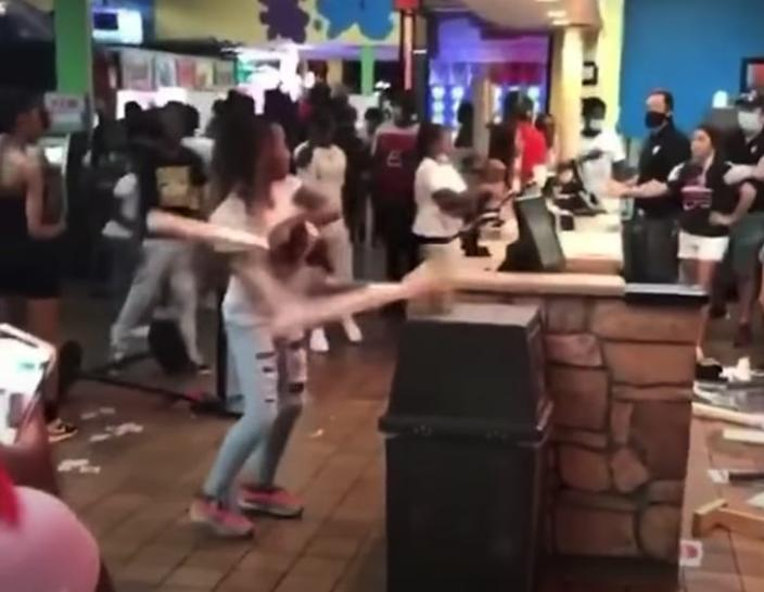 A video posted on social media showed teenagers wreaking havoc at the Putt-Putt Fun Center in Memphis after being told that the center was closing because of COVID-19 restrictions but wouldn't issue refunds.
