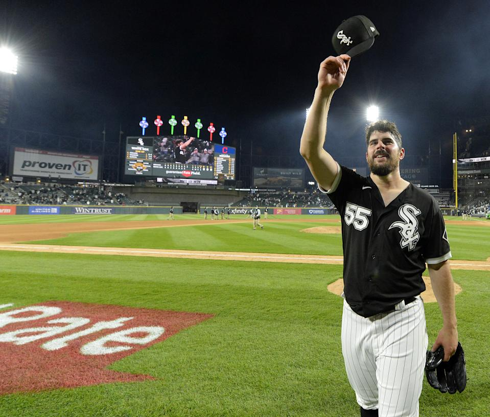 Carlos Rodon #55 of the Chicago White Sox