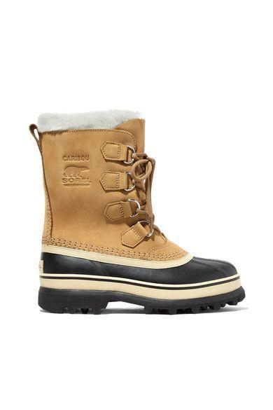 """<p><strong>Sorel</strong></p><p>Net-a-Porter</p><p><strong>$160.00</strong></p><p><a href=""""https://go.redirectingat.com?id=74968X1596630&url=https%3A%2F%2Fwww.net-a-porter.com%2Fus%2Fen%2Fproduct%2F1064021&sref=https%3A%2F%2Fwww.marieclaire.com%2Ffashion%2Fg3388%2Fsnow-boots-for-women%2F"""" rel=""""nofollow noopener"""" target=""""_blank"""" data-ylk=""""slk:SHOP IT"""" class=""""link rapid-noclick-resp"""">SHOP IT</a></p><p>These durable Sorel snow boots with a fleece-trimmed cuff are an A-plus option for those nasty blizzards that appear in the middle of the work day. </p>"""