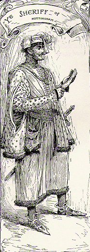 <p>Obeying royal orders: the Sheriff of Nottingham (depicted here in an early 20th-century artist's impression) publicly displayed the headless body Robert of Wetherby (potentially Robin Hood). The sheriff even invoiced the Crown for the metal chain used to display the corpse</p>CC Via Blue Ribbon Books
