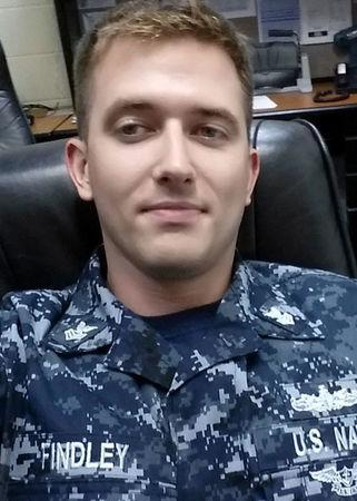 Electronics Technician 1st Class Charles Nathan Findley, 31, from Amazonia, Missouri, who was stationed aboard the USS John S. McCain when it collided with a merchant vessel in waters near Singapore and Malayasia, August 21, 2017, is shown in this undated photo provided August 24, 2017. U.S. Navy/Handout via REUTERS
