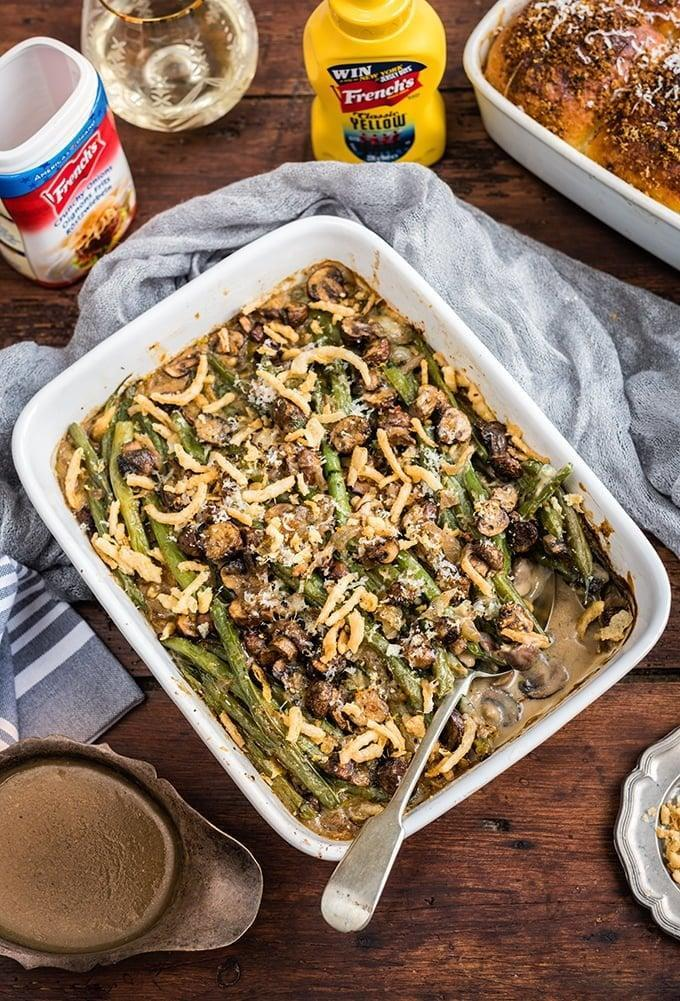 """<p>Keep this recipe handy for any one of your family holiday meals.</p> <p><b>Get the recipe:</b> <a href=""""https://www.supergoldenbakes.com/green-bean-casserole-thanksgiving"""" class=""""link rapid-noclick-resp"""" rel=""""nofollow noopener"""" target=""""_blank"""" data-ylk=""""slk:holiday green bean casserole"""">holiday green bean casserole</a></p>"""
