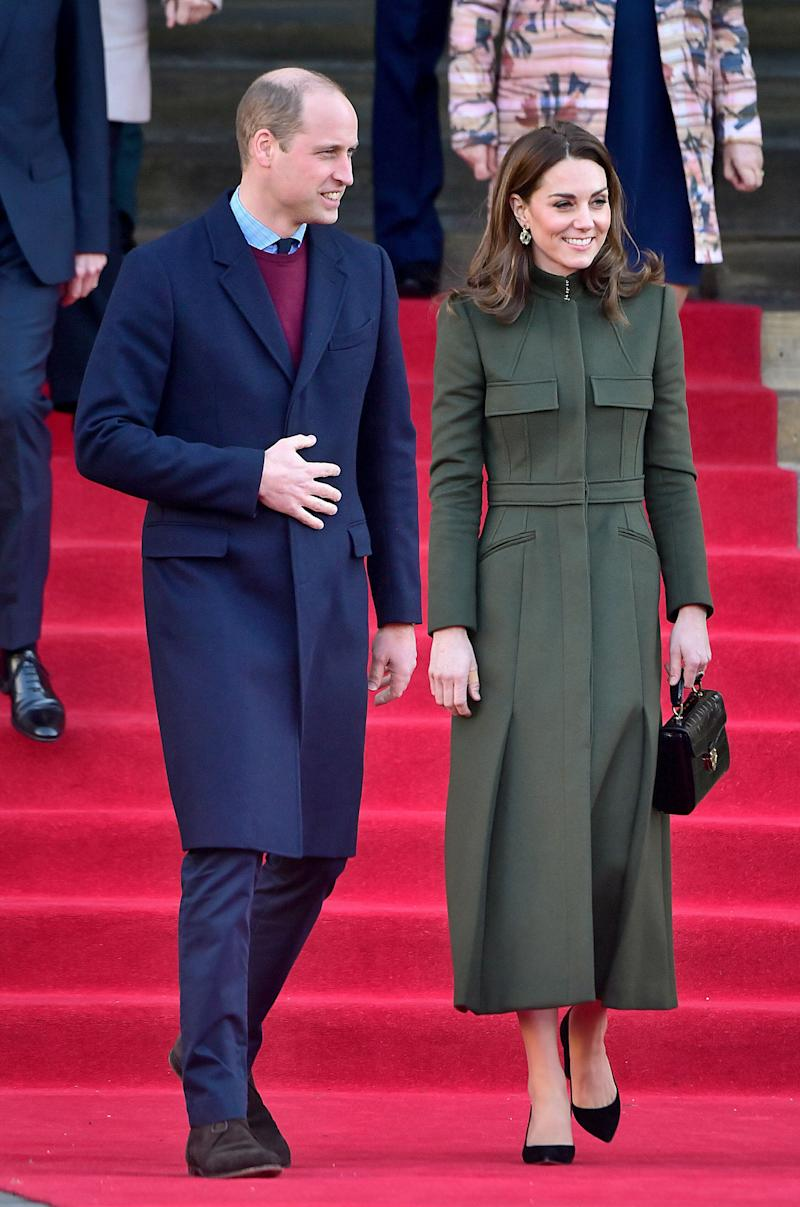 Prince William and Kate Middleton leave after their visit to City Hall in Bradford's Centenary Square on Jan. 15 in Bradford, United Kingdom.  (Photo: Samir Hussein via Getty Images)