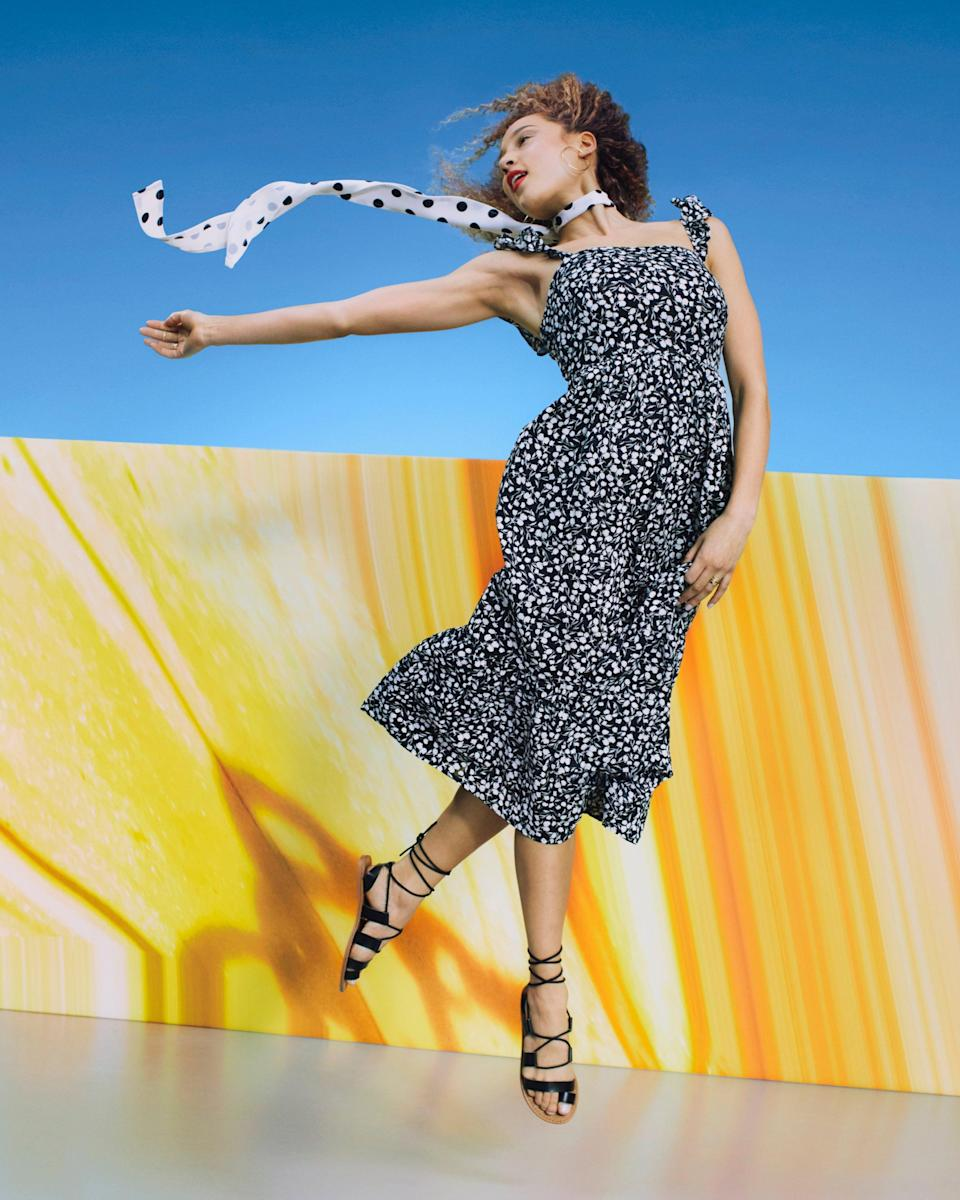 """<strong>RIXO x Target</strong><br><br><strong>RIXO x Target</strong> Floral Ruffle Strap Dress, $, available at <a href=""""https://go.skimresources.com/?id=30283X879131&url=https%3A%2F%2Fgoto.target.com%2Foe4rM9"""" rel=""""nofollow noopener"""" target=""""_blank"""" data-ylk=""""slk:Target"""" class=""""link rapid-noclick-resp"""">Target</a>"""