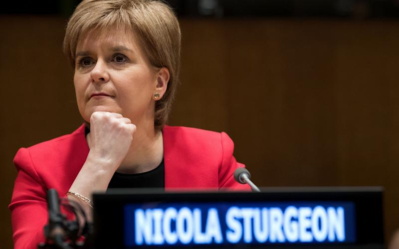 Nicola Sturgeon, speaking at the UN on Wednesday - Getty Images North America