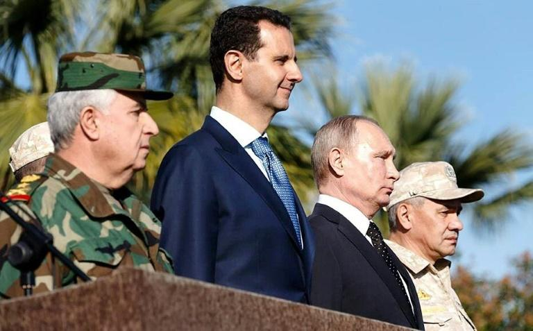 Russian President Vladimir Putin held talks with President Bashar al-Assad during his first visit to Syria