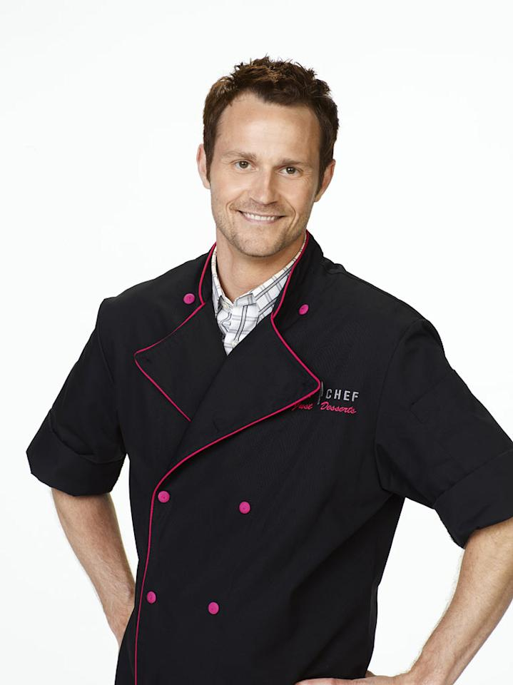 "Chris Hanmer competes in season 2 of ""Top Chef Just Desserts."""