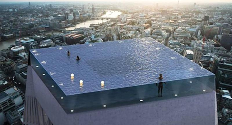 Plans for a 360-degree infinity pool have left the internet cold. [Photo: Compass Pools]