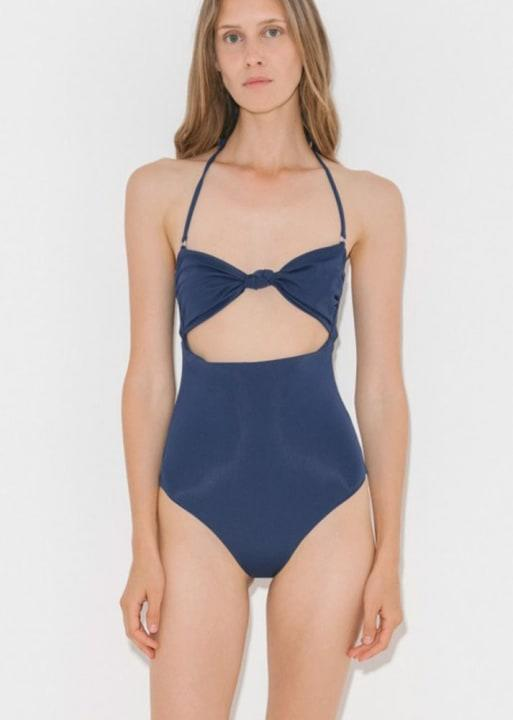 Mara Hoffman knot-front Bandeau one-piece(The Dreslyn, $230)
