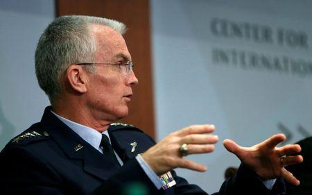 FILE PHOTO: Vice Chairman of the Joint Chiefs of Staff U.S. Air Force General Selva speaks at the Center for Strategic and International Studies in Washington