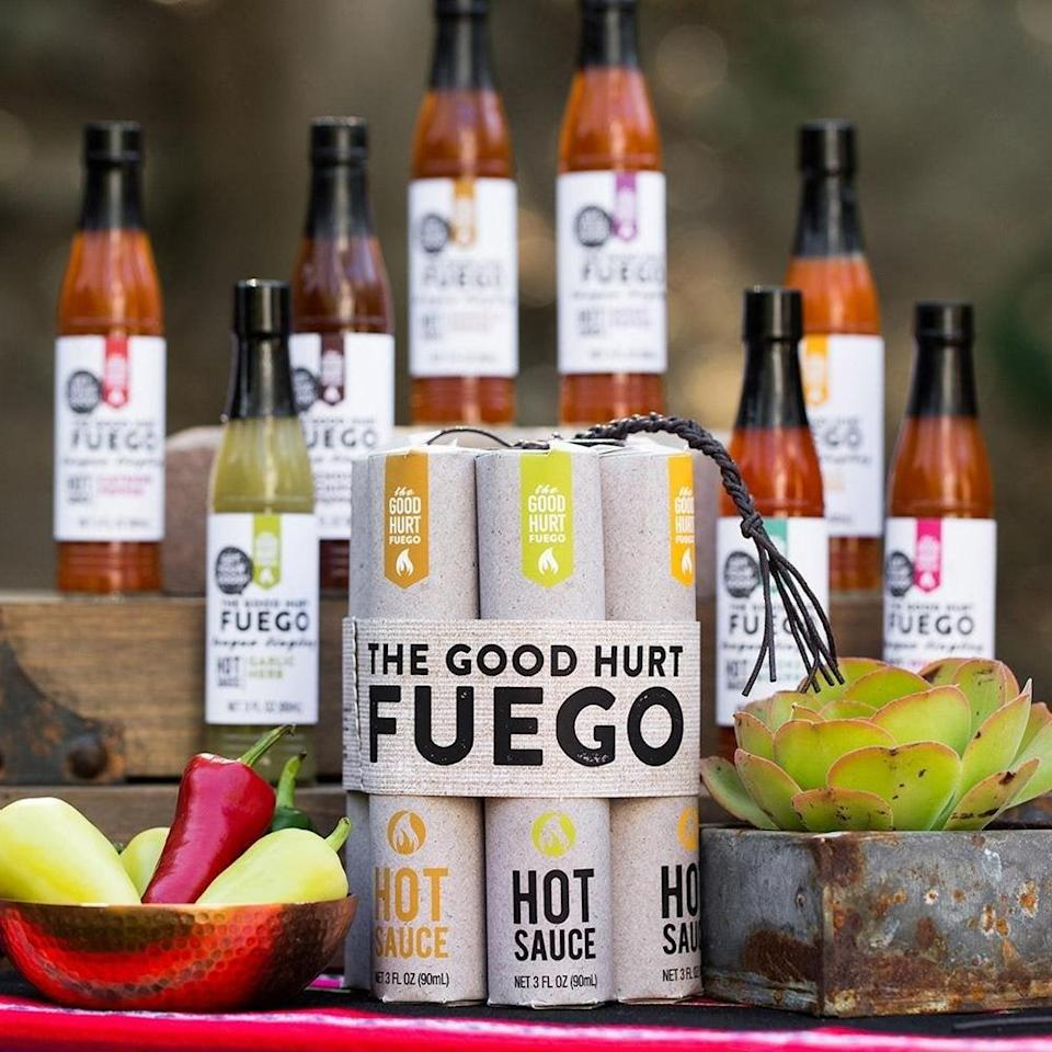 <p>There's a reason <span>The Good Hurt Fuego: Hot Sauce Sampler</span> ($35) was featured on Oprah's Favorite Things 2017 List.</p>