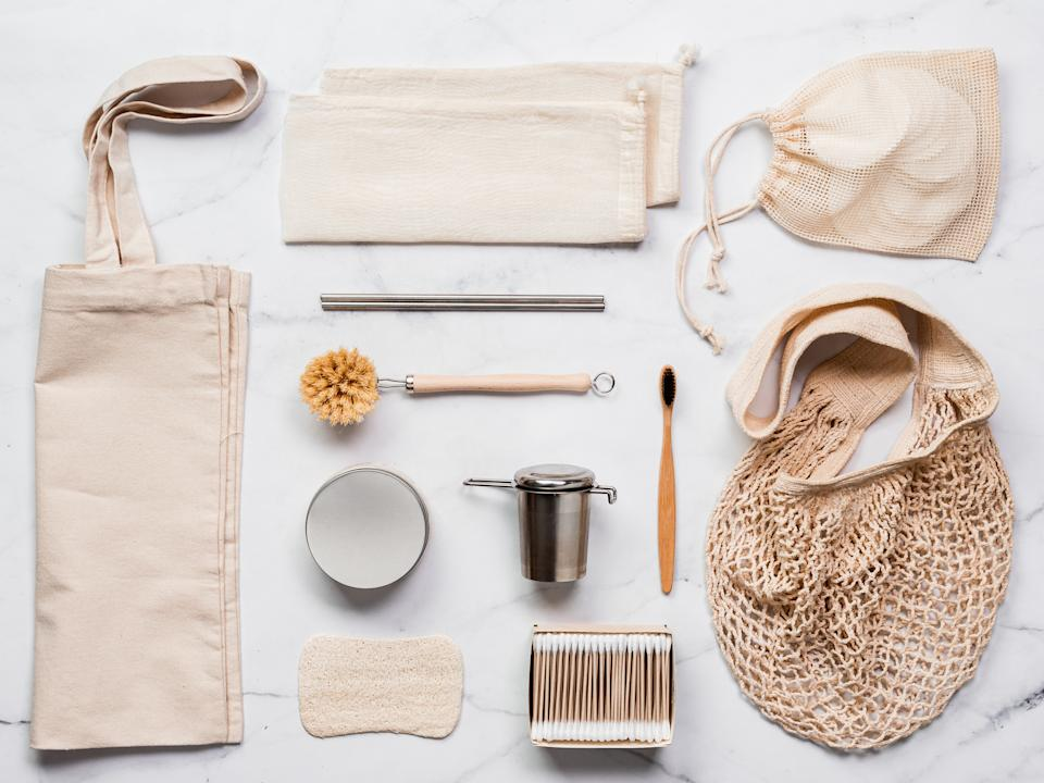 What you can use: Textile eco bags, metal straws and tea infuser, eco-friendly kitchen tools, bamboo toothbrush and cotton buds, reusable cotton pads. (PHOTO: Getty Images)