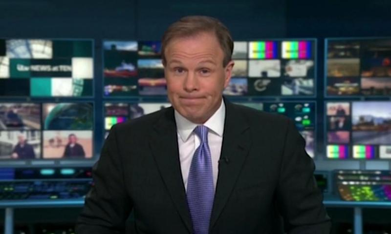Tom Bradby tells viewers ITV News at Ten is being cut short by what turned out to be a false alarm