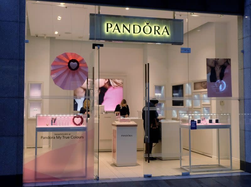 FILE PHOTO: A general view of the Pandora shop in Riga,