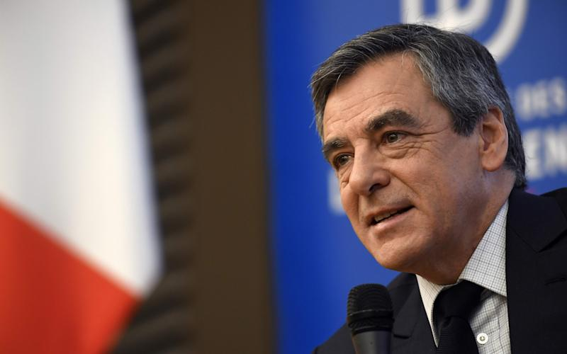 French presidential election candidate for the right-wing Les Republicains (LR) party Francois Fillon - Credit: ERIC FEFERBERG/AFP/Getty Images