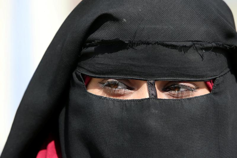 Amal Susi, 20, who's Lebanese and the wife of an Islamic State militant, is pictured during an interview with Reuters at al-Hol displacement camp in Hasaka governorate, Syria, April 1, 2019. REUTERS/Ali Hashisho