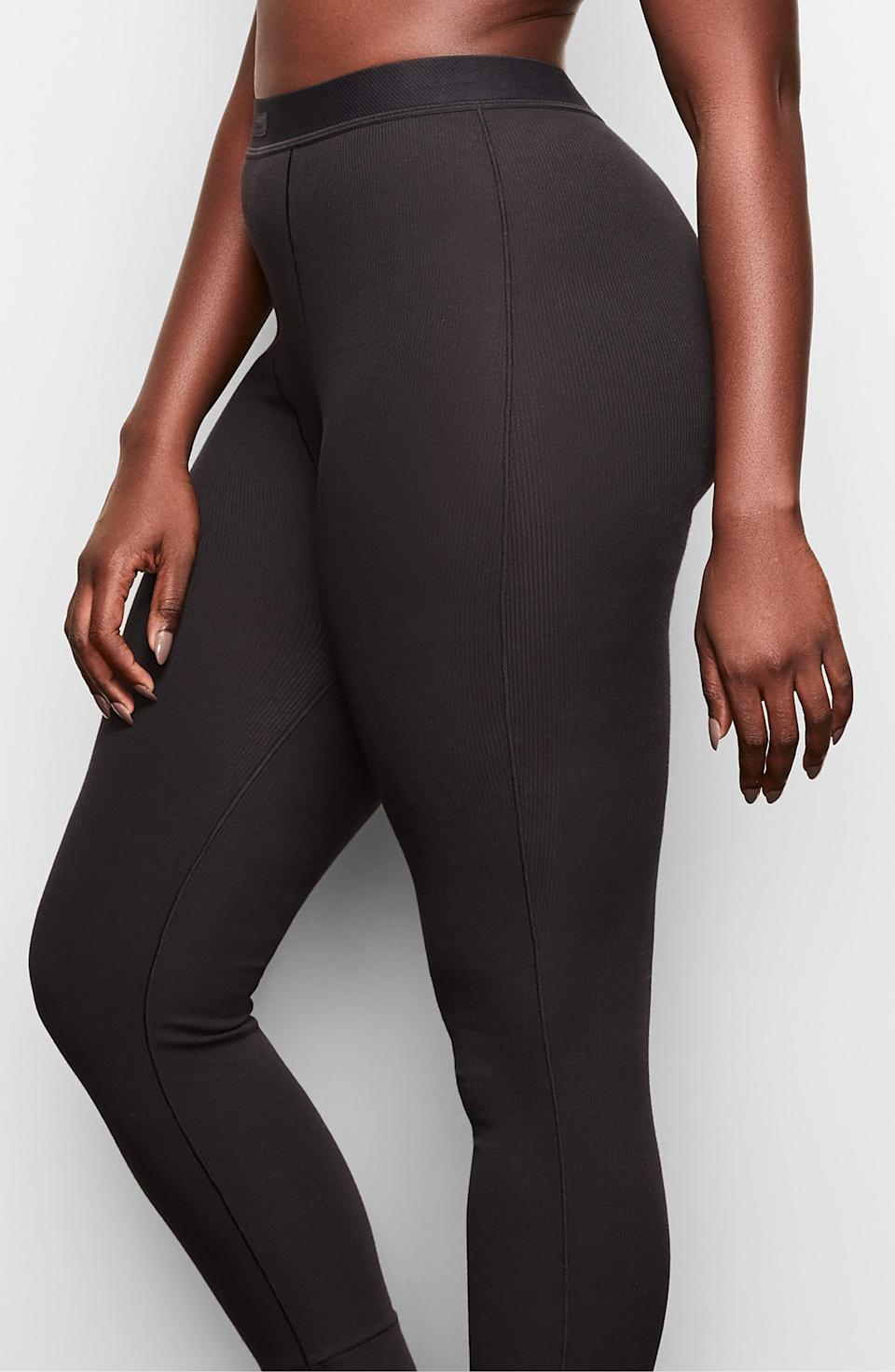 """<p><strong>SKIMS</strong></p><p>nordstrom.com</p><p><strong>$52.00</strong></p><p><a href=""""https://go.redirectingat.com?id=74968X1596630&url=https%3A%2F%2Fshop.nordstrom.com%2Fs%2Fskims-cotton-rib-thermal-leggings-regular-plus-size%2F5547437&sref=https%3A%2F%2Fwww.cosmopolitan.com%2Fhealth-fitness%2Fg26305843%2Fbutt-sculpting-leggings%2F"""" rel=""""nofollow noopener"""" target=""""_blank"""" data-ylk=""""slk:SHOP NOW"""" class=""""link rapid-noclick-resp"""">SHOP NOW</a></p><p>If there's anyone who knows about bringing attention to the bootay, it's definitely Kim Kardashian. Her leggings are thin and lightweight, but they've got just the right amount of lift in <em>certain</em> areas.</p>"""