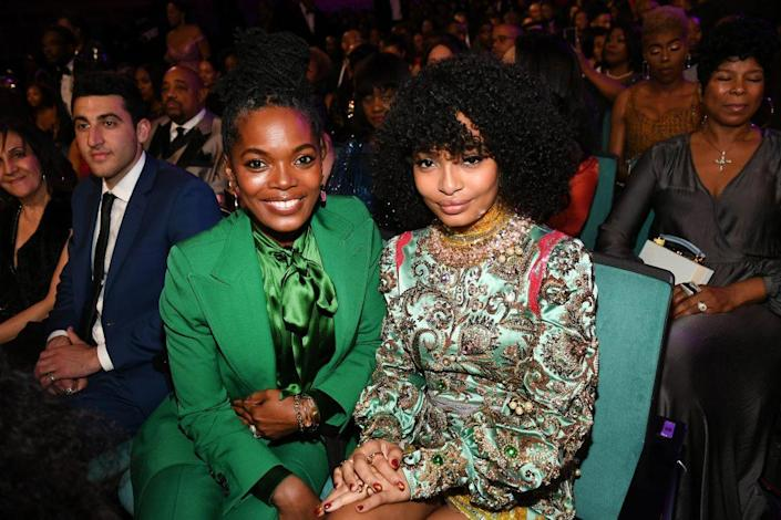 Keri Shahidi and Yara Shahidi attend the 51st NAACP Image Awards, Presented by BET, at Pasadena Civic Auditorium on February 22, 2020 in Pasadena, California. (Photo by Paras Griffin/Getty Images for BET)