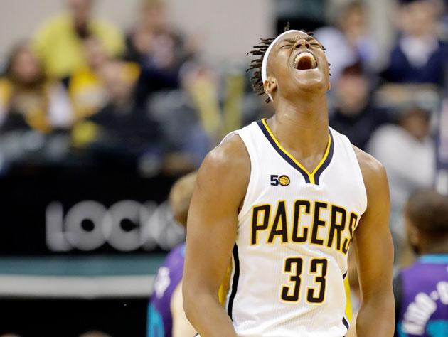 Myles Turner, in plays both good and bad. (Getty Images)