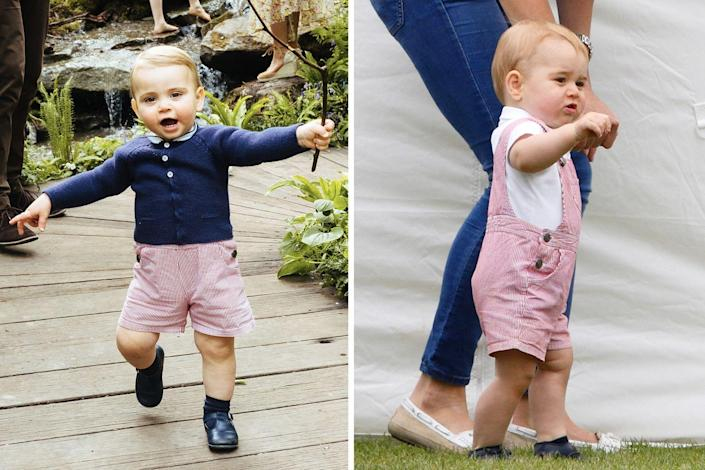 <p>In 2014, a toddler-aged Prince George attended a charity polo match in a stylish pair of overalls; almost five years later, Prince Louis wore them again—but, ever the fashion trailblazer, he chose to style them differently, wearing the overalls as shorts.<br></p>