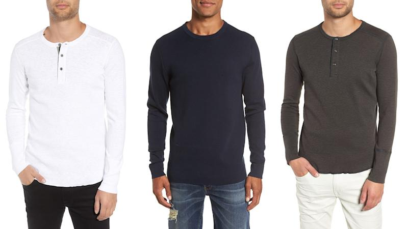 Stay warm and look great doing it with these long-sleeved shirts.
