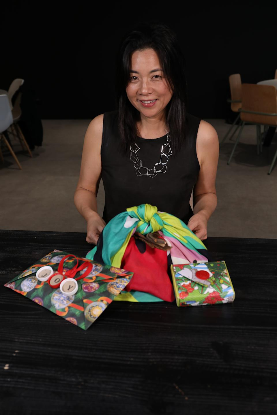Master gift wrapper Megumi can make any shaped gift look incredible. Photo: Yahoo Lifestyle