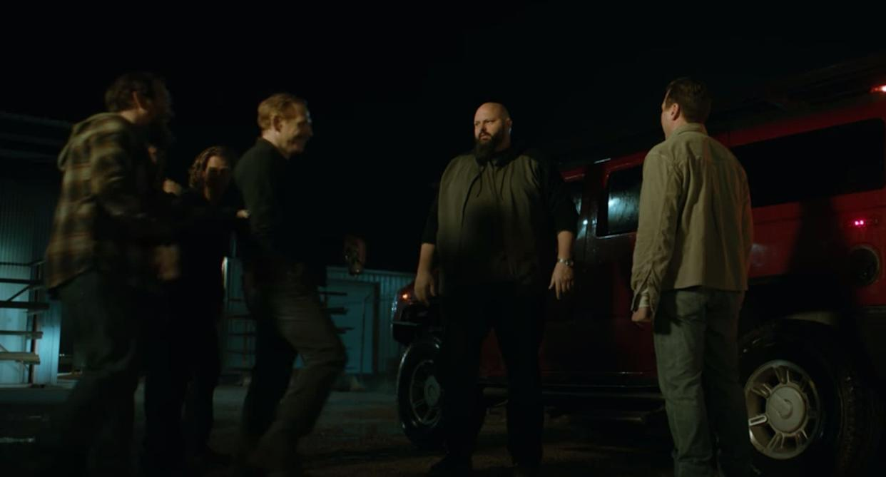 """In """"Better Call Saul,"""" Mike scared away a large bodyguard, played by David Mattey, from taking a job offer to protectDaniel Wormald (Mark Proksch).Mattey returns toward the end of """"El Camino"""" as a bodyguard to a group of strippers."""