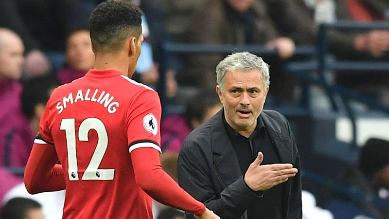 Chris Smalling Jose Mourinho Manchester City Manchester United