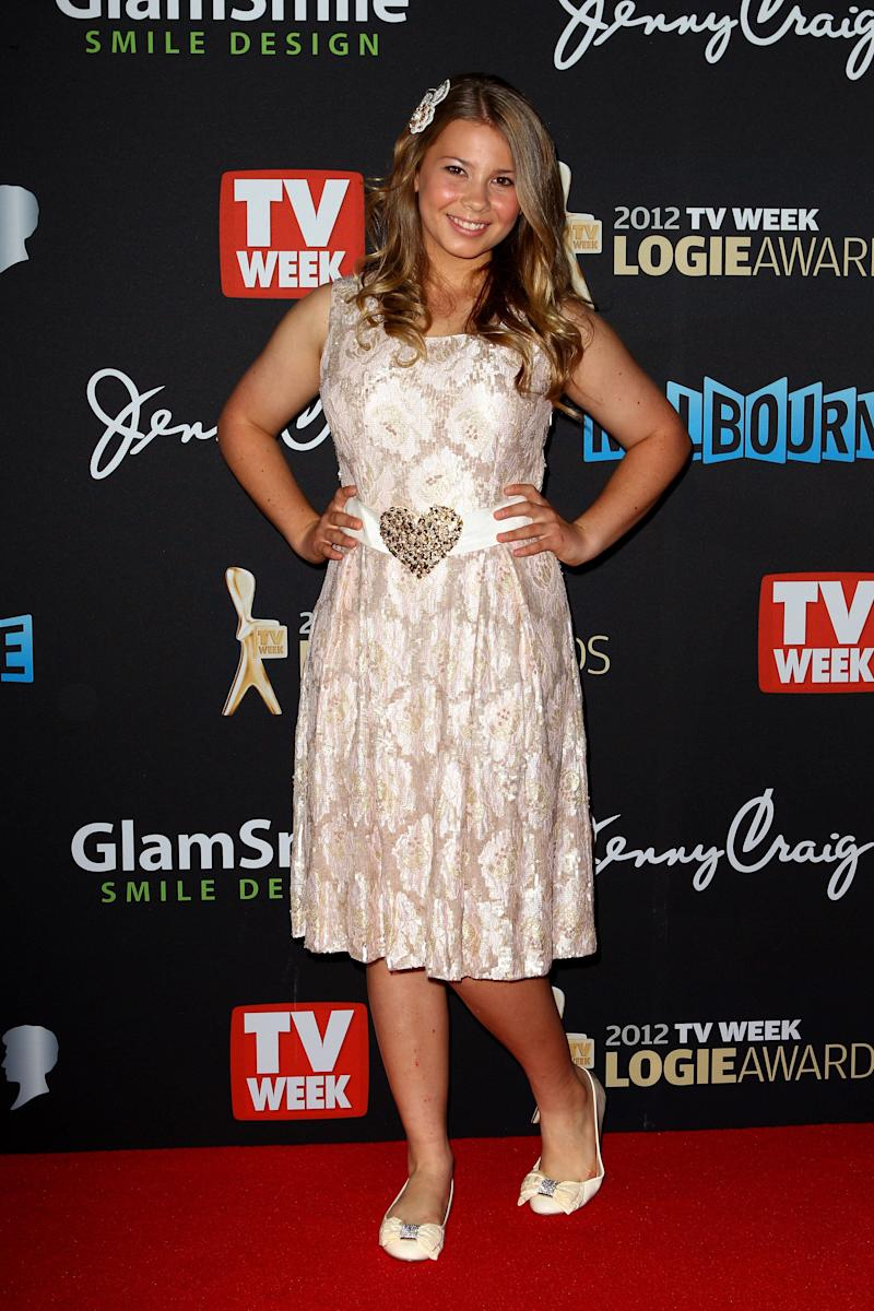Bindi Irwin arrives at the 2012 Logie Awards at the Crown Palladium on April 15, 2012 in Melbourne, Australia. (Photo by Ryan Pierse/Getty Images)