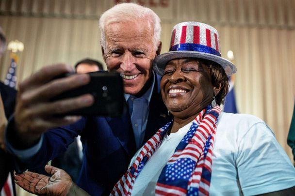 PHOTO: Former Vice President Joe Biden, and presidential candidate, greets supporters during a campaign event at Edisto Fork United Methodist Church in Orangeburg, S.C., July 6, 2019. (Demetrius Freeman/The New York Times via Redux)
