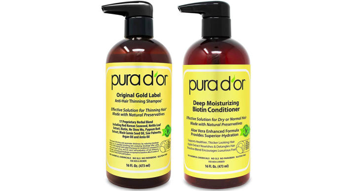 Pura D'or Original Gold Label Anti-Hair Thinning Shampoo (Photo: Amazon)