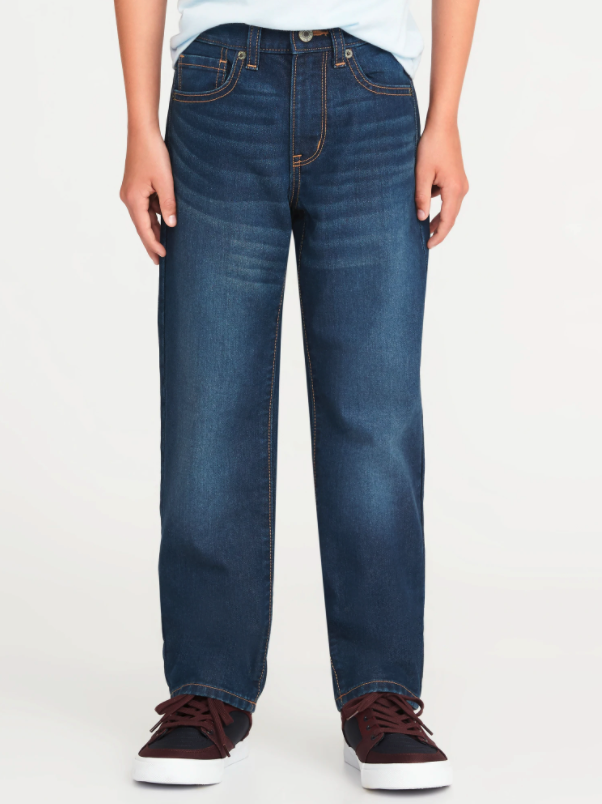 Straight Non-Stretch Jeans. Image via Old Navy.