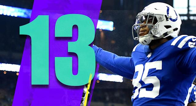 <p>Eric Ebron has 13 touchdowns. The single-season record for a tight end is 17 by Rob Gronkowski. Ebron might not get the record but the fact it's even a realistic conversation means this was a great value signing by the Colts. (Eric Ebron) </p>