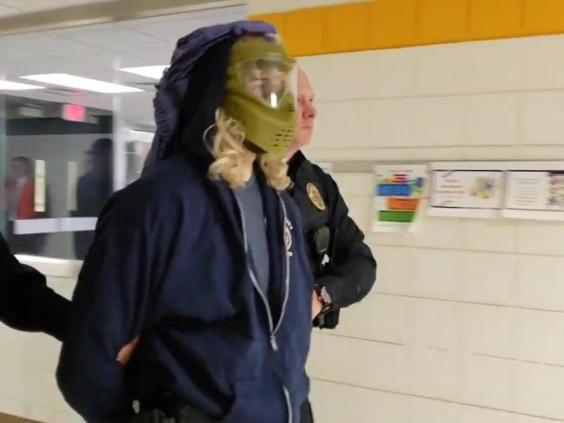 Image released by school district showing another costume used in active shooter drill (Penn-Trafford School District)