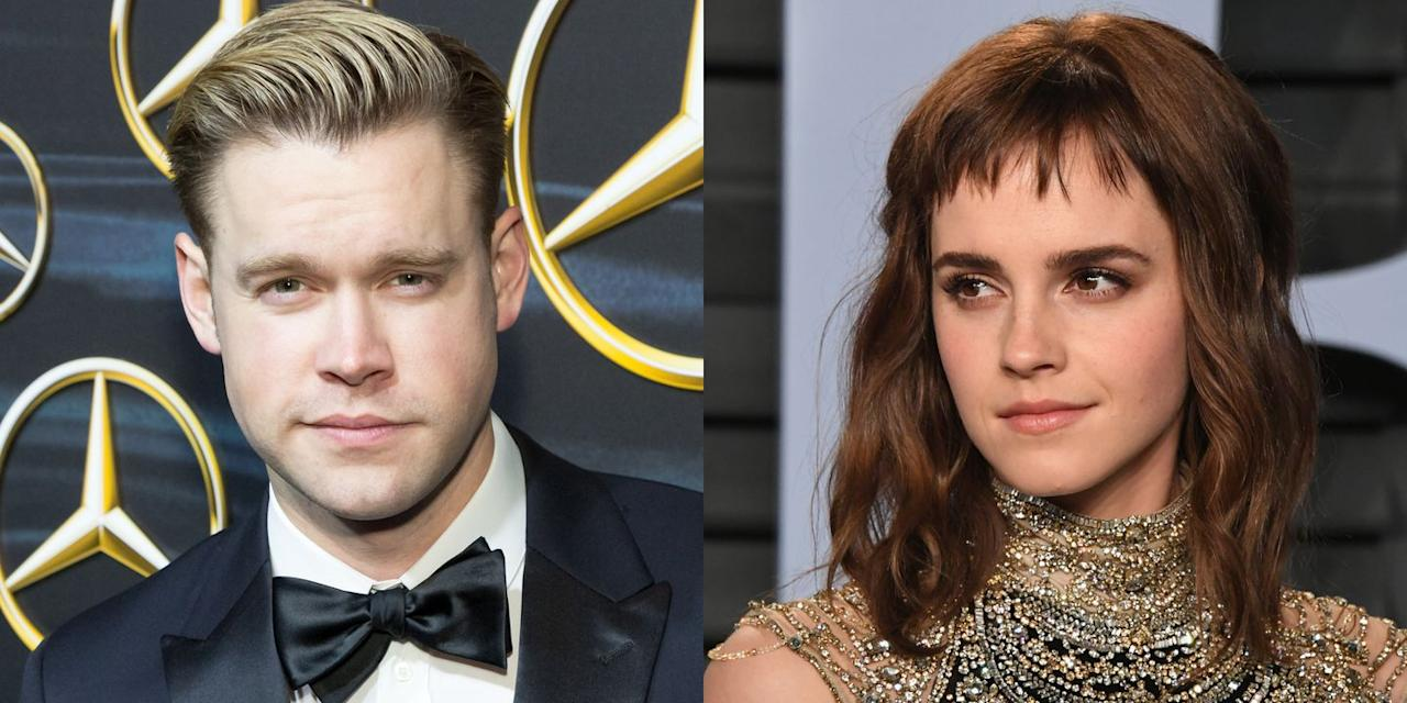 """<p>There were <a href=""""https://www.elle.com/culture/celebrities/a19140823/emma-watson-chord-overstreet-dating-rumor/"""" target=""""_blank"""">whispers</a> that Watson was dating the <em>Glee</em> star in March 2018, and the two confirmed the suspicions when they <a href=""""https://www.elle.com/culture/celebrities/a19378762/emma-watson-and-chord-overstreet-holding-hands-photos/"""" target=""""_blank"""">stepped out in public</a> that month. The couple was first spotted together in Los Angeles back in February, but they kept their relationship super secret. The pair<a href=""""https://www.elle.com/culture/celebrities/a20949936/emma-watson-chord-overstreet-break-up-report/"""" target=""""_blank""""> reportedly split</a> in May 2018.</p>"""