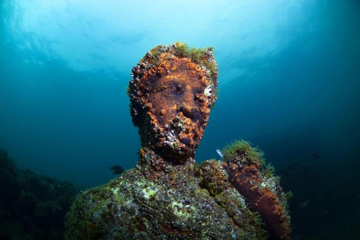"""<p>The submerged ancient Roman ruins of the sunken city, Baiae, rest off the shores of Naples, Italy. It's believed that the city was lost by the <a href=""""https://pbsinternational.org/programs/underwater-pompeii/"""" rel=""""nofollow noopener"""" target=""""_blank"""" data-ylk=""""slk:very same volcanos"""" class=""""link rapid-noclick-resp"""">very same volcanos</a> that destroyed Pompeii.<br></p>"""