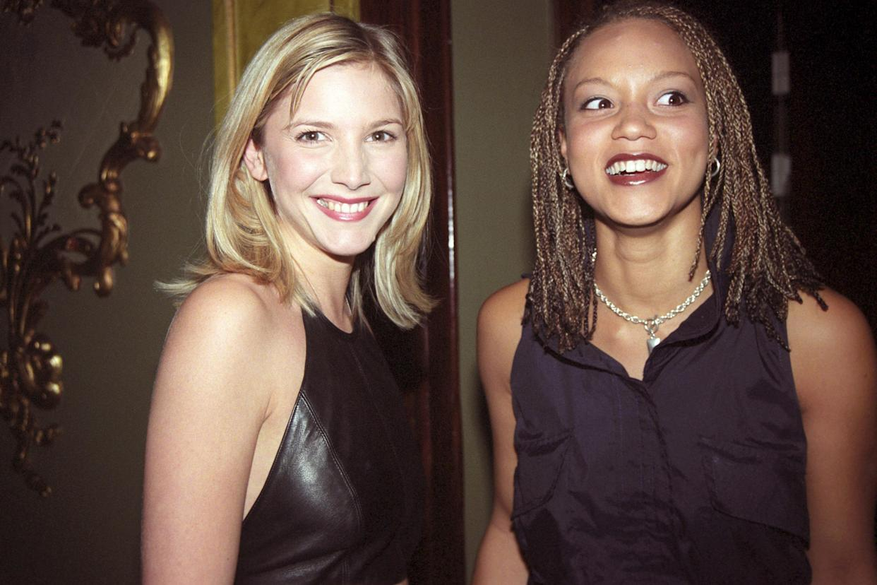 Actresses Lisa Faulkner (l) and Angela Griffin (r).   (Photo by Tony Harris/PA Images via Getty Images)